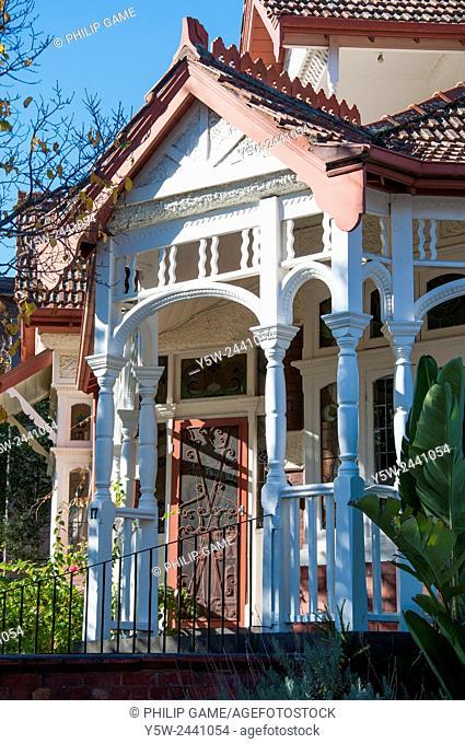 Federation-era mansion (ca 1901) in upscale South Yarra, Melbourne, Australia