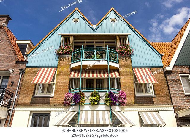 House in Volendam, North-Holland, the Netherlands, Europe