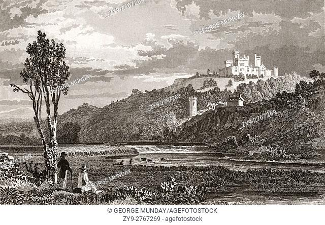 Coltsman's Castle, on the Lower Lake in Killarney National Park, . County Kerry, Ireland