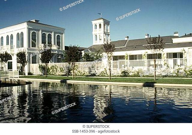 Reflection of a building in water, San Jose, Santa Clara County, California, USA