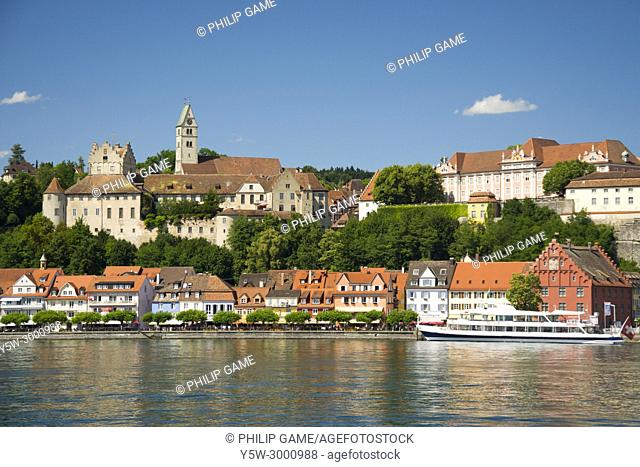 The small town of Meersburg on the Bodensee (Lake Constance), southern Germany