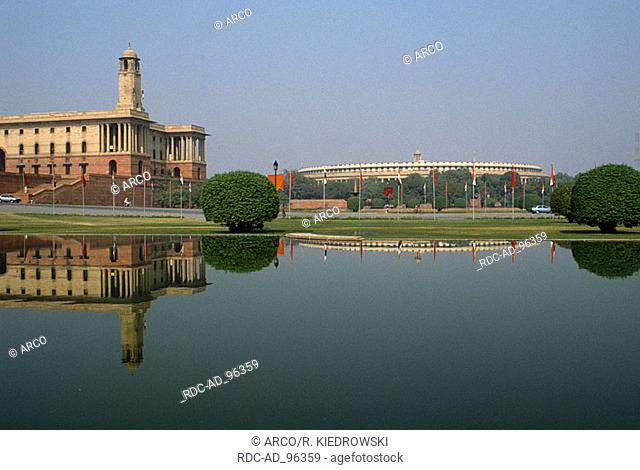Building of the prime minster New Delhi India New Dehli