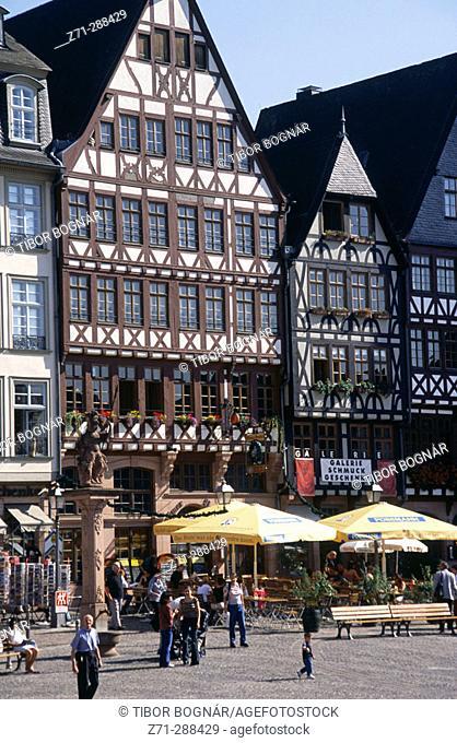Römerberg Square. Frankfurt am Main. Hessen. Germany