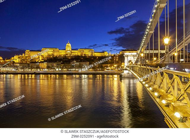 Evening at Buda Castle in Budapest, Hungary