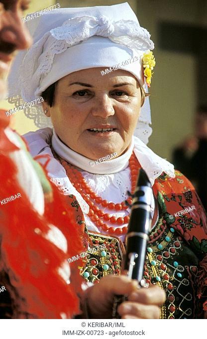 Traditional Polish Street Musician, Stare Miasto, Krakow, Poland, Europe