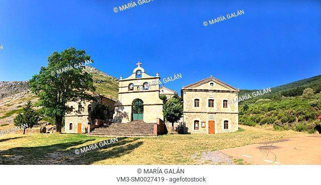 El Brezo sanctuary, panoramic view. Villafria de la Peña, Palencia province, Castilla Leon, Spain