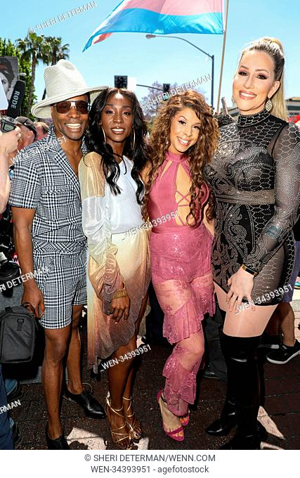 Los Angeles Pride Parade 2018 in West Hollywood, California Featuring: Billy Porter, Hailie Sahar, Angelica Ross, Our Lady J Where: Los Angeles, California