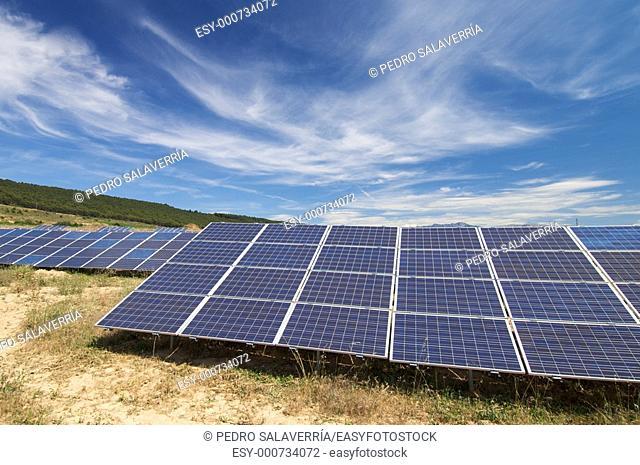 solar field in Cenicero, La Rioja, Spain