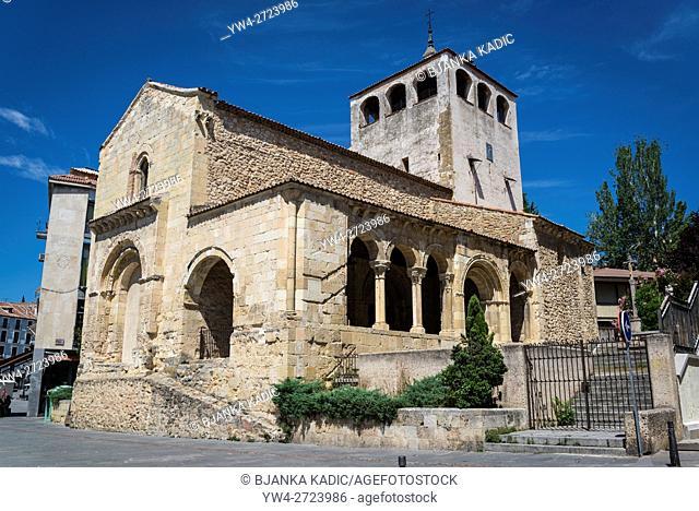 Romanesque Church on Avenida del Acueducto street, Segovia, Castilla y Leon, Spain