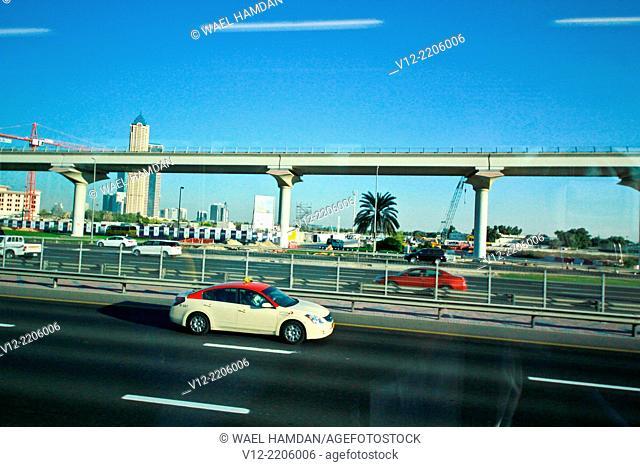 Dubai, sheikh zayed road, United Arab Emirates