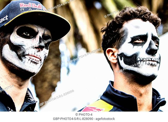 (L to R): Max Verstappen (NLD) Red Bull Racing with team mate Daniel Ricciardo (AUS) Red Bull Racing. 27.10.2016