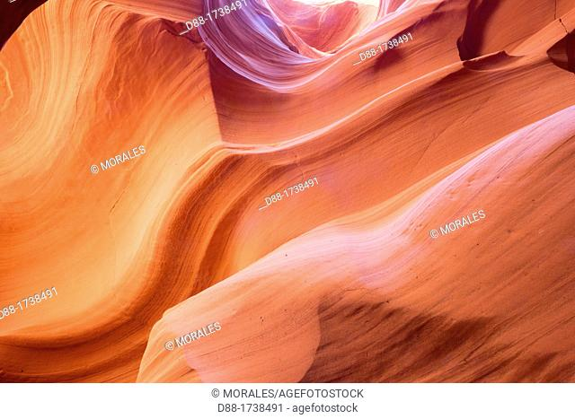 United States, Arizona, Page , Navajo reservation near Page, canyon X