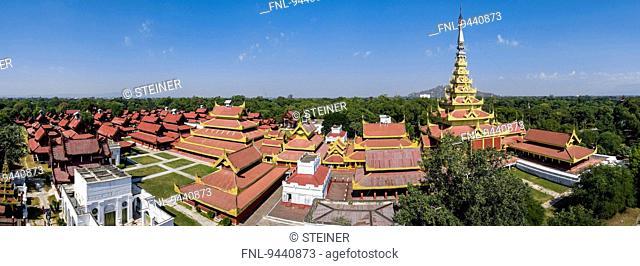 Royal Palace, Mandalay, Myanmar, Asia