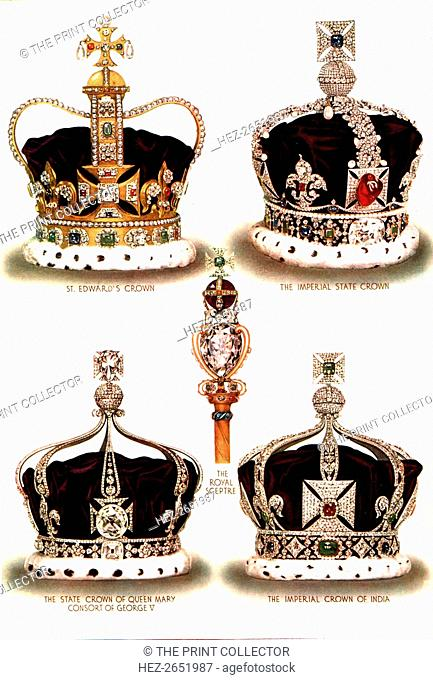 Symbols of Imperial Majesty, c1935. From 'The Illustrated London News Silver Jubilee Record Number 1910-1935'. [The Illustrated London News and Sketch, Ltd