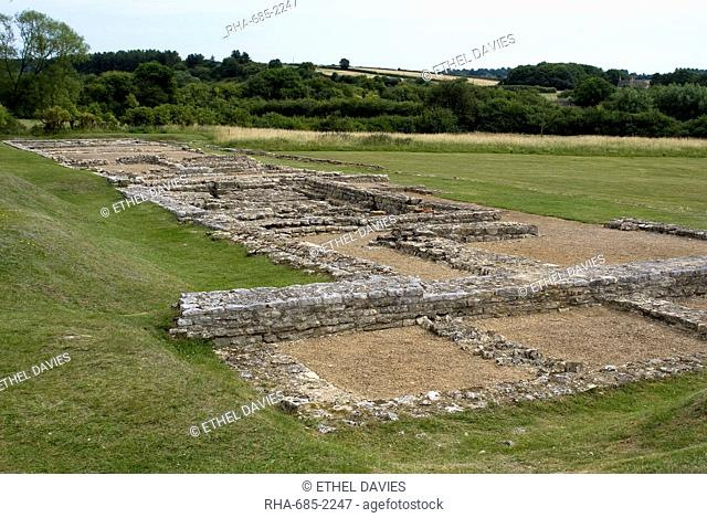 North Leigh Roman villa, the remains of a large manor house dating from the 1st to 3rd century AD, North Leigh, Oxfordshire, England, United Kingdom, Europe