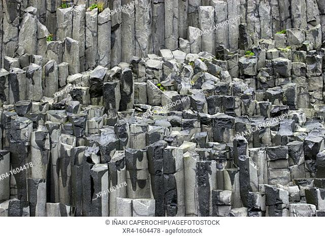 Basalt columns at Dyrholaey, Reynisdrangar, Vik i Myrdal, Iceland