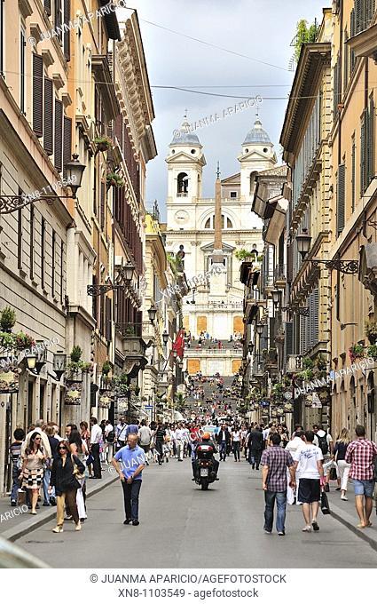 View of Via Condotti, Rome