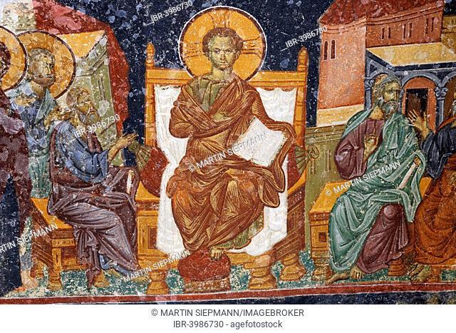Frescoes in the Narthex, former Byzantine Hagia Sophia or Ayasofya monastery church, Trabzon, Black Sea coast, Black Sea Region, Turkey
