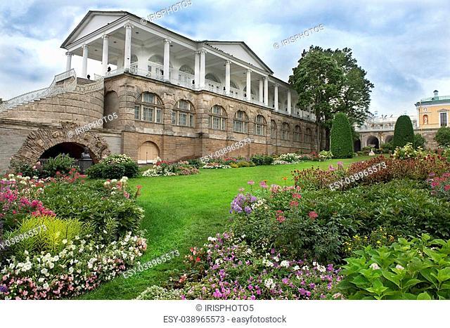 The Cameron Gallery in Catherine park, Tsarskoye Selo (Pushkin), architect Charles Cameron, neighborhood of Saint-Petersburg, Russia