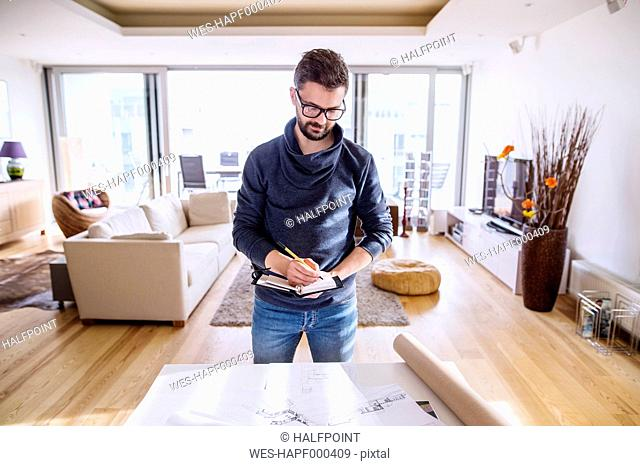 Architect working from home