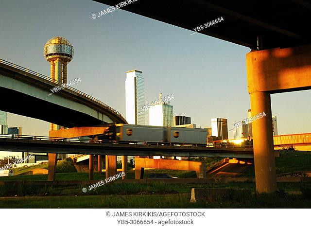 Dallas as Seen from the I-35 Overpass