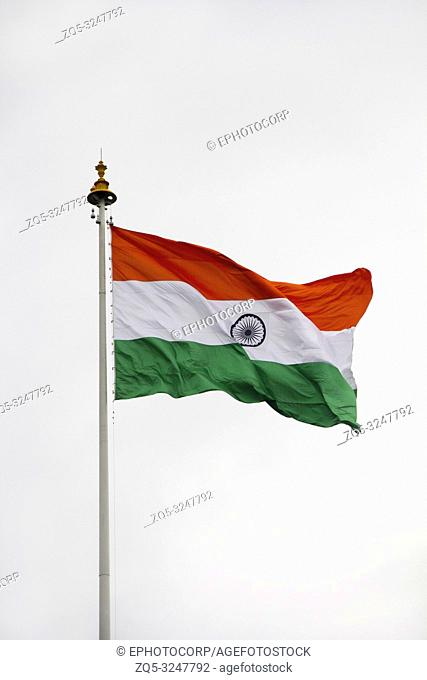 PUNE, MAHARASHTRA, INDIA, 15 Aug 2018, Indian National flag waving on Independence Day