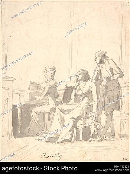 Conversation Piece. Artist: Louis Léopold Boilly (French, La Bassée 1761-1845 Paris); Date: 1761-1845; Medium: Pen and India ink