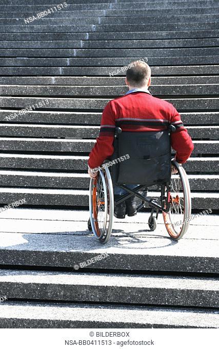 Man in a wheel chair