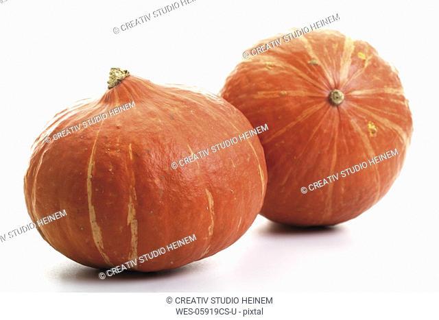 Two Hokkaido-pumpkins