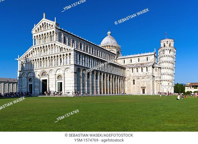 Cathedral and The Leaning Tower of Pisa Torre pendente di Pisa, Pisa, Toscana, Italy, Europe