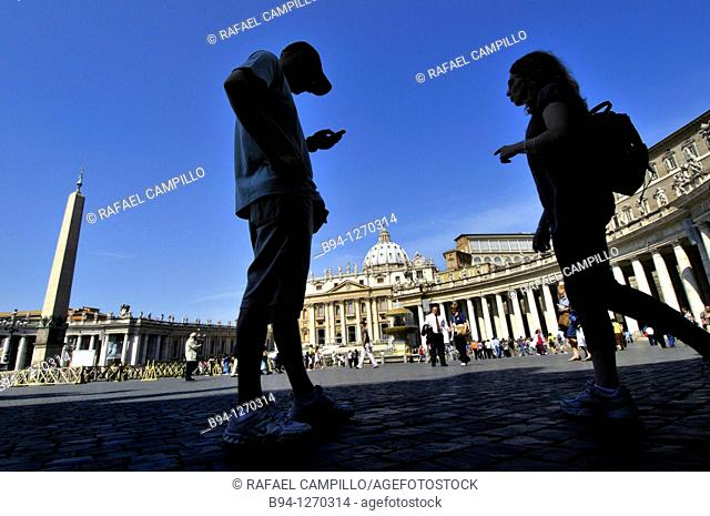 St. Peter's square and St. Peter's Basilica. Vatican city. Rome, Italy