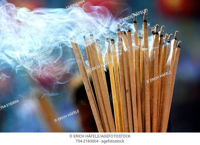 Incense in a temple in Bangkok
