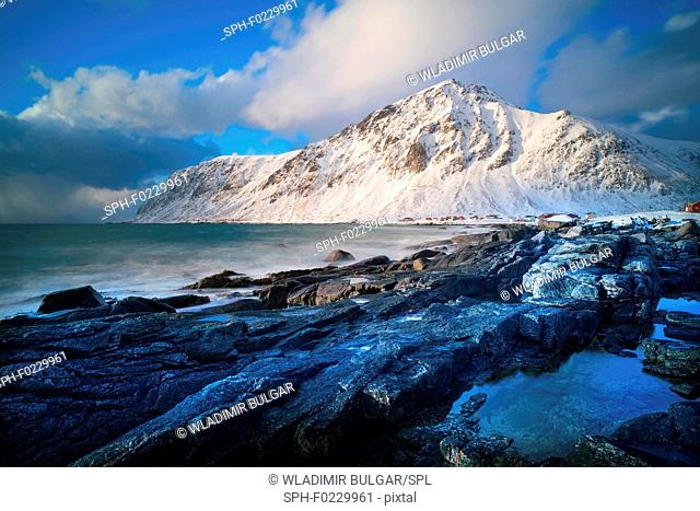 Kvalvika Beach, Lofoten Island, Norway