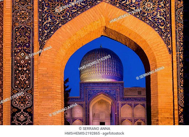 Uzbekistan, Samarkanda, listed as World Heritage by UNESCO, Gur Emir Mosque