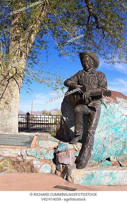 Rex Allen Statue, Willlcox Historic District, Cochise County, Arizona, USA