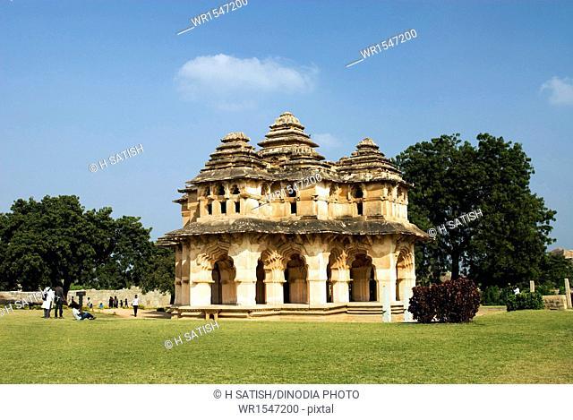 Lotus Mahal in Hampi at Karnataka India Asia