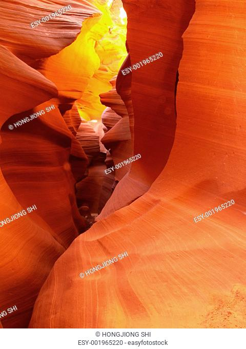 The lower Antelope Slot Canyon near Page
