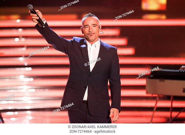 italienischer Popsänger Eros Ramazzotti bei Willkommen bei Carmen Nebel am 16.05.2015 in Magdeburg