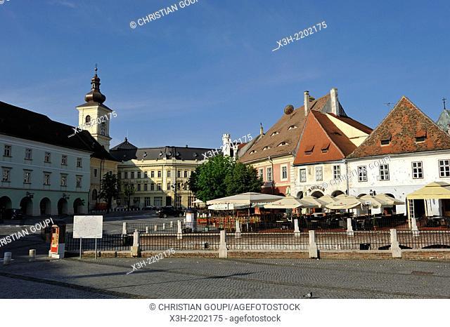 Small Square of Sibiu, Transylvania, Romania, Southeastern and Central Europe