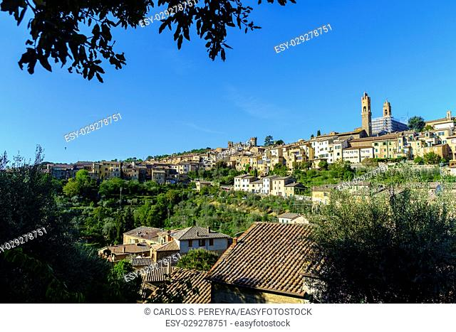 Montalcino is famous for its production of high quality wines Italy