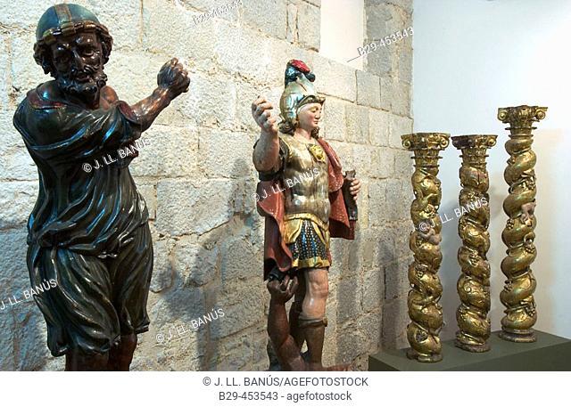 Sculptures in the Girona Art Museum. Catalonia, Spain