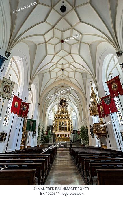 Corpus Christi decorations, Parish Church of the Assumption, Bad Tölz, Bavaria, Germany