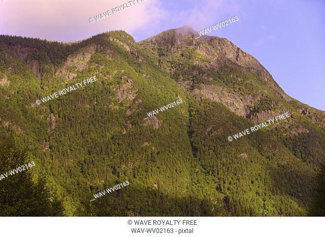 View of Mont Nicol-Albert, Gaspesie, Quebec