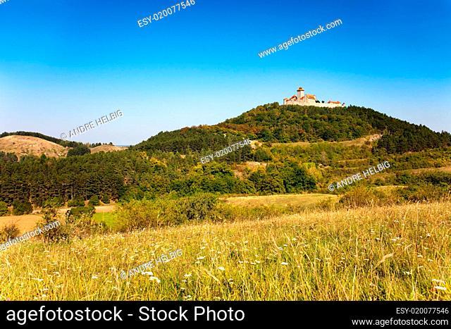 Landschaft mit Wachsenburg
