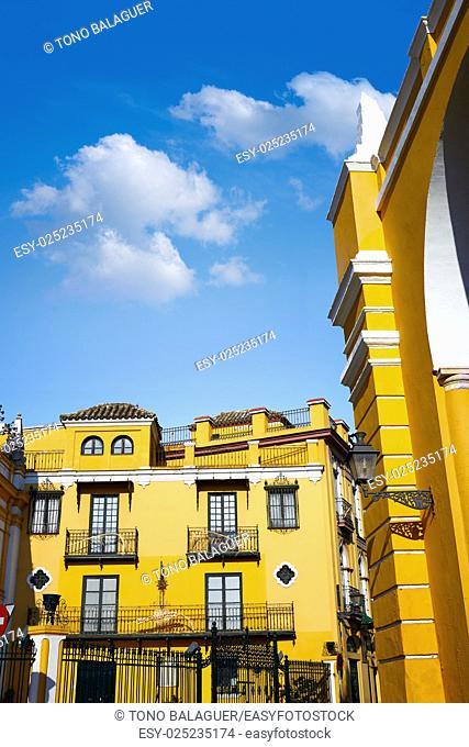 Seville la Macarena barrio street in Sevilla Andalusia Spain
