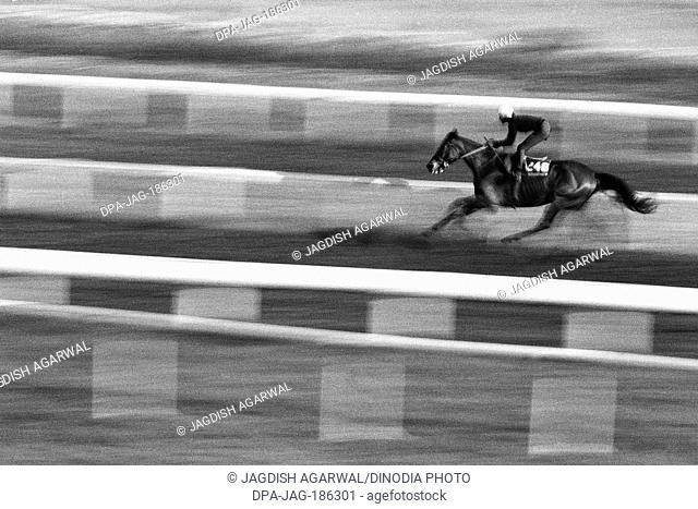 Horse racing at Mahalaxmi race course Mumbai Maharashtra India Asia 1985