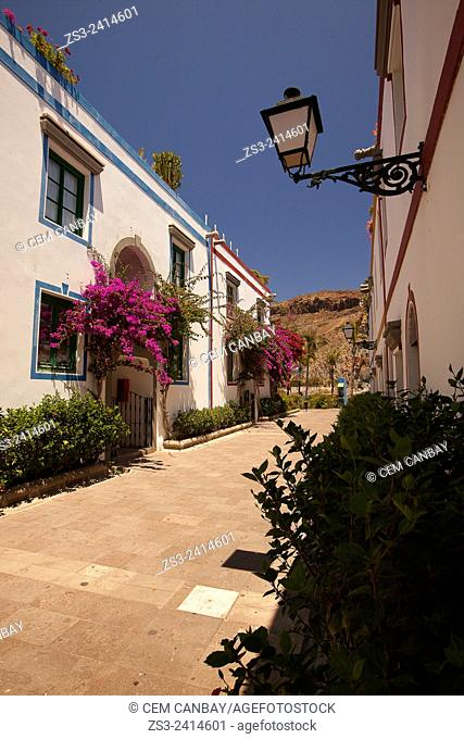 Scene from the streets of Puerto de Mogan, Gran Canaria, Canary Islands, Spain, Europe