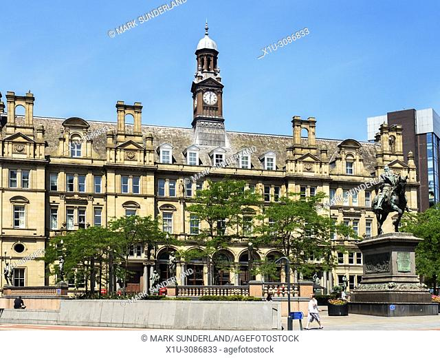 The Old Post Office building in City Square Leeds West Yorkshire England