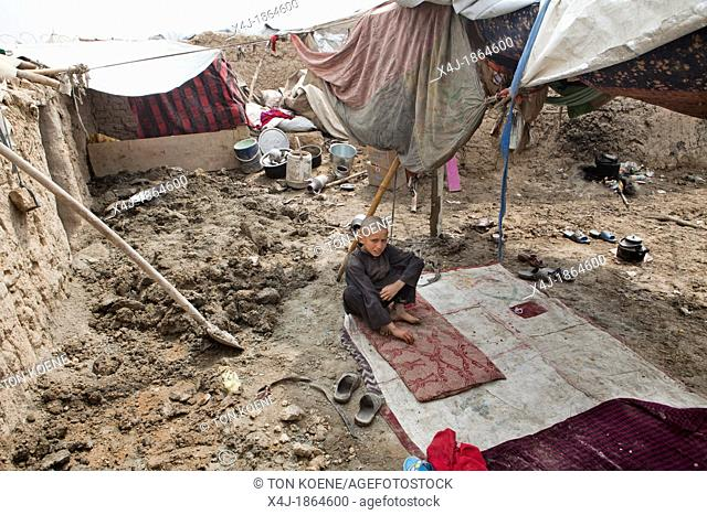 Mohammed Kasimrefugee camp in kabul, Afghanistan