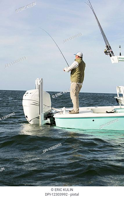 Fishing off the coast of Cape Cod; Massachusetts, United States of America
